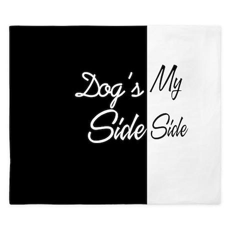 Dogs Side My Side 3 King Duvet By Retroculture