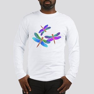 Dive Bombing Dragonflies Long Sleeve T-Shirt