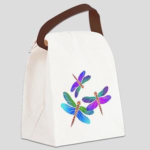 Dive Bombing Dragonflies Canvas Lunch Bag