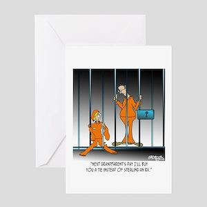 Grandfather Cartoon 8853 Greeting Card