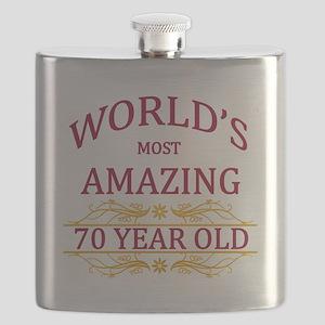 70th. Birthday Flask