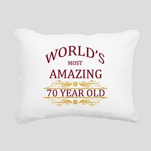 70th. Birthday Rectangular Canvas Pillow