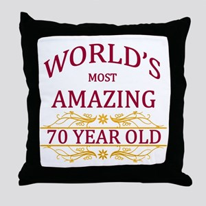70th. Birthday Throw Pillow