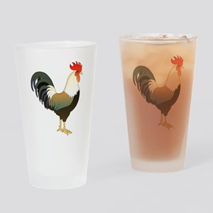 Rocking Rooster Drinking Glass