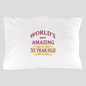 55th. Birthday Pillow Case