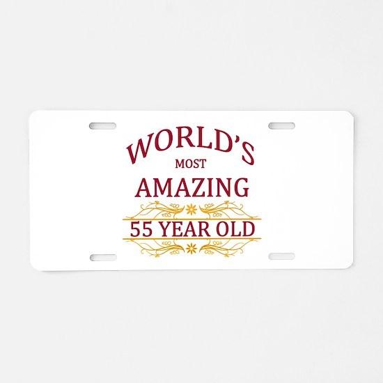 55th. Birthday Aluminum License Plate