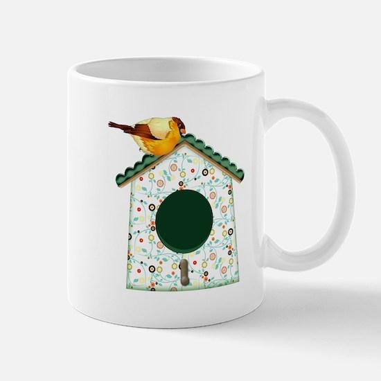 Goldfinch on Calico Mugs