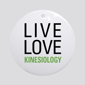 Live Love Kinesiology Ornament (Round)
