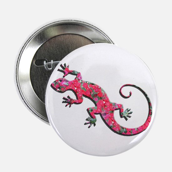 "Pink Rose Gecko 2.25"" Button"