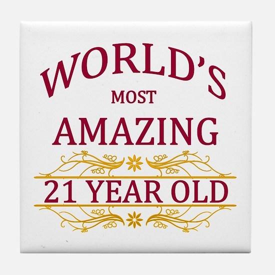 21st. Birthday Tile Coaster