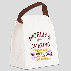 20th. Birthday Canvas Lunch Bag