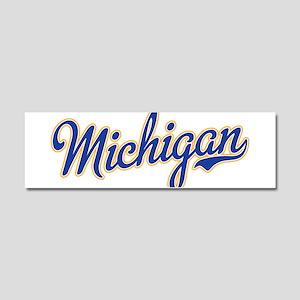 Michigan Script Font Car Magnet 10 x 3