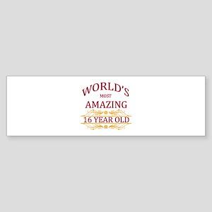 16th. Birthday Sticker (Bumper)