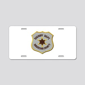 Waukesha County Sheriff Aluminum License Plate