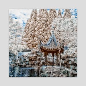 Chinese Garden Infrared Queen Duvet