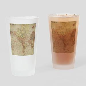 Vintage world map Drinking Glass