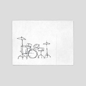 Drum Kit 5'x7'Area Rug