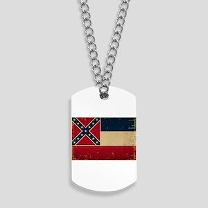 Mississippi State Flag VINTATE Dog Tags