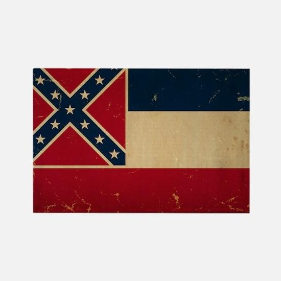 Mississippi State Flag VINTATE Magnets