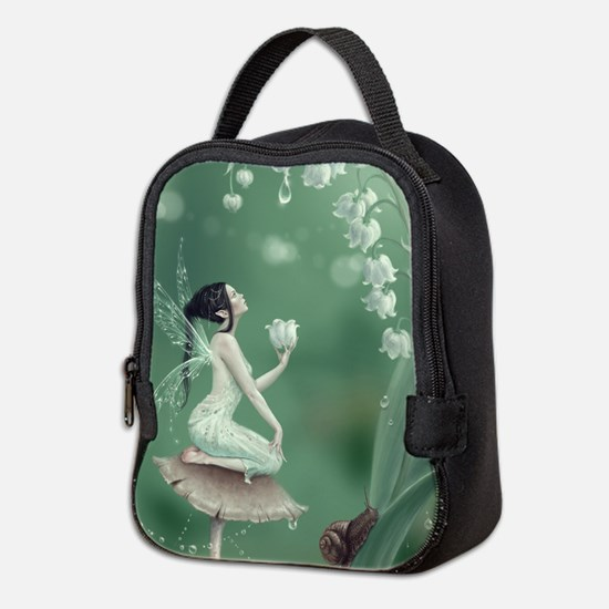 Lily of the Valley Flower Fairy Neoprene Lunch Bag