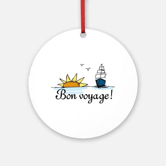 Bon Voyage Ornament (Round)
