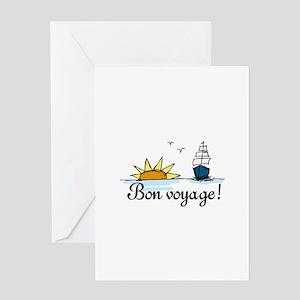 Bon voyage greeting cards cafepress bon voyage greeting cards m4hsunfo