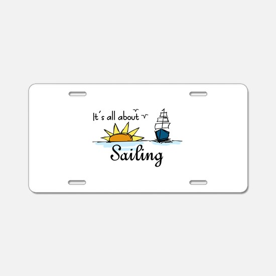 All About Sailing Aluminum License Plate