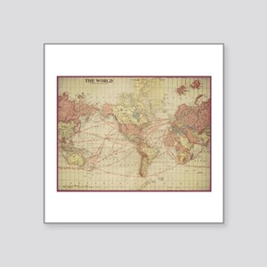 Vintage world map Sticker