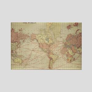 Vintage world map Magnets