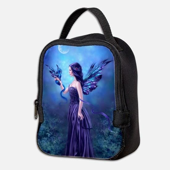 Iridescent Fairy Dragon Art Neoprene Lunch Bag