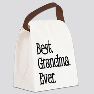 BEST GRANDMA EVER Canvas Lunch Bag