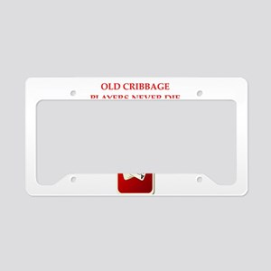cribbage License Plate Holder