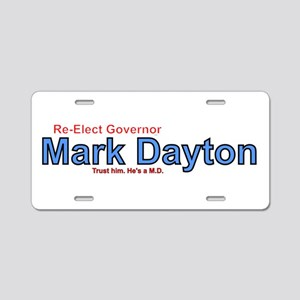 Re-Elect Mark Dayton Aluminum License Plate