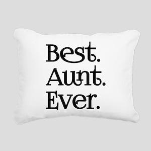 Best Aunt Ever Rectangular Canvas Pillow