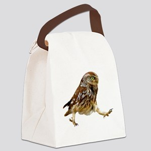 Determined Marching Owl Canvas Lunch Bag