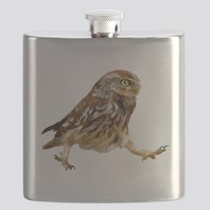 Determined Marching Owl Flask