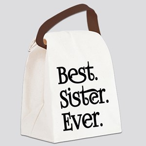 Best Sister Ever Canvas Lunch Bag