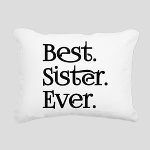 Best Sister Ever Rectangular Canvas Pillow
