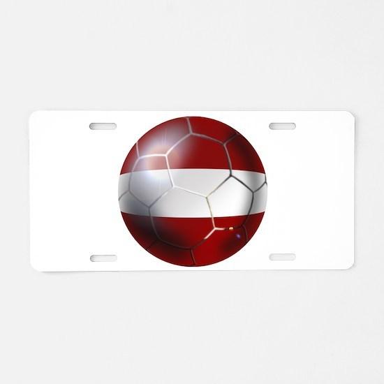 Latvia Football Aluminum License Plate