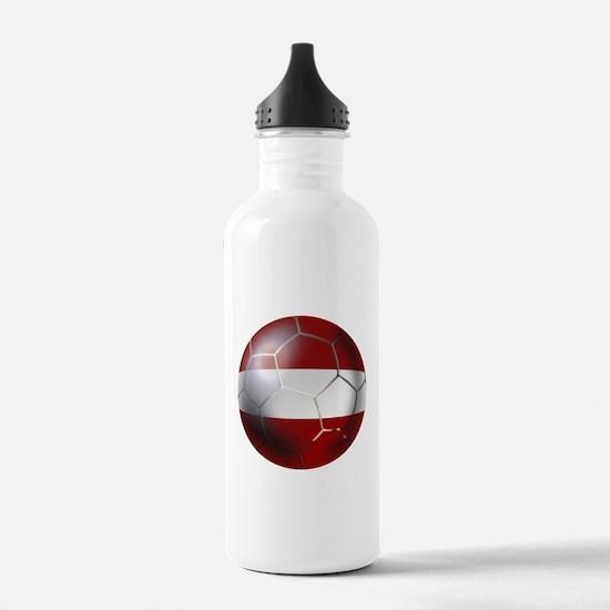 Latvia Football Water Bottle