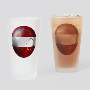 Latvia Football Drinking Glass