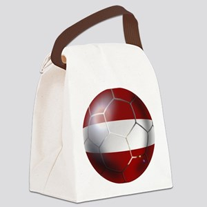 Latvia Football Canvas Lunch Bag