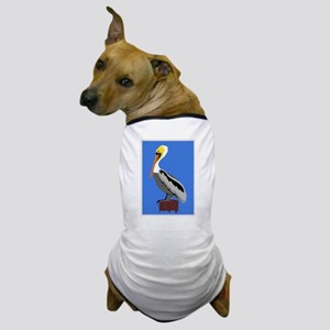 Pelican on a Piling at the Dock Dog T-Shirt