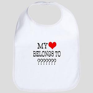 Personalize My Heart Belongs To Bib