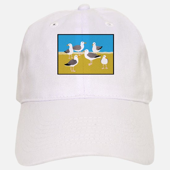 Gang of Seagulls Baseball Baseball Baseball Cap