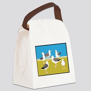 Gang of Seagulls Canvas Lunch Bag