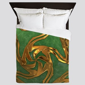 Faberge's Jewels - Green Queen Duvet