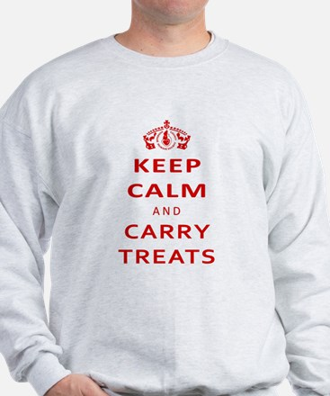Keep Calm And Carry Treats Sweater