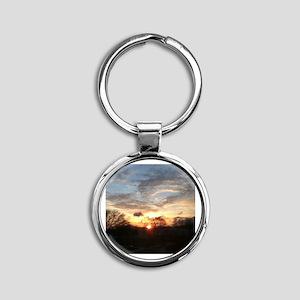 Sunrise Round Keychain