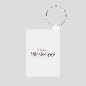 Custom Mississippi Aluminum Photo Keychain